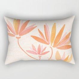 Basking In The Summer Sun / Japanese Botanical Woodblock Rectangular Pillow