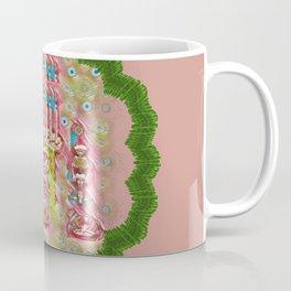Sankta Lucia with friends light and floral santa skulls Coffee Mug