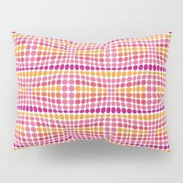 Dottywave - Pink Orange wave dots pattern Pillow Sham