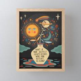 Deepest heart's desires Framed Mini Art Print