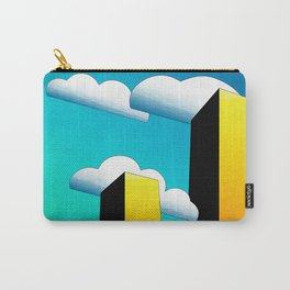 Tall Buildings And Low Clouds Carry-All Pouch