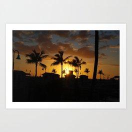 Sunset in Key West, FL Art Print