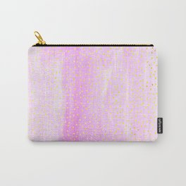 pink pastel with golden dots Carry-All Pouch