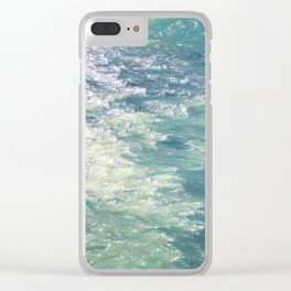Sea Painting Maravellous Effect with brushes Clear iPhone Case
