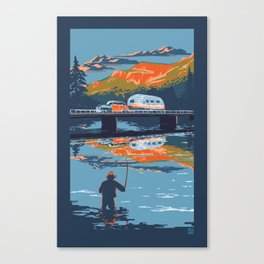 Retro Airstream Travel poster Canvas Print