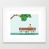 forrest gump Framed Art Prints featuring Forrest Gump  by PIXERS