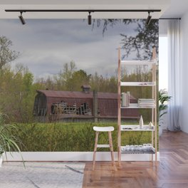 Red Roof Barn Wall Mural