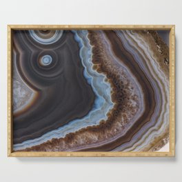 Mocha Agate Serving Tray