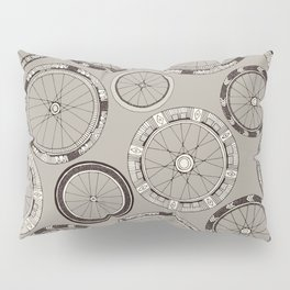 bike wheels stone Pillow Sham