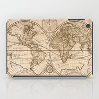 world maps iPad Cases featuring Old Maps by tanduksapi