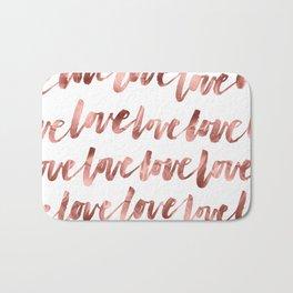 Rose Gold Love Bath Mat