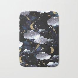 Cosmic lightning Bath Mat