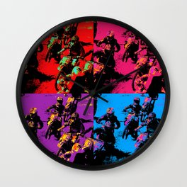Race Mania Motocross Racers Wall Clock