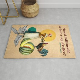 Coffee Quote Print Rug