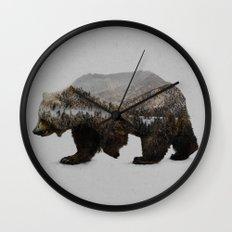 The Kodiak Brown Bear Wall Clock
