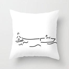 water-ski boat waterski Throw Pillow