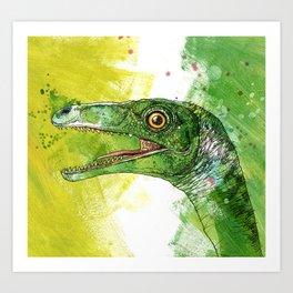 green saurus Art Print