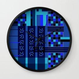 Movimiento de cuadritos azules · Glojag Wall Clock
