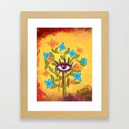 Eye witness Framed Art Print