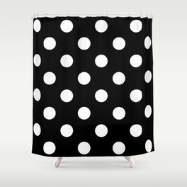Polkadot (White & Black Pattern) Shower Curtain