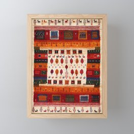 Antique Traditional Moroccan Style Framed Mini Art Print