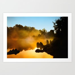 Golden Mist  Art Print