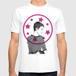 Jean Seberg//Black & White T-shirt