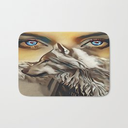 Spirit Of The Wolf Bath Mat