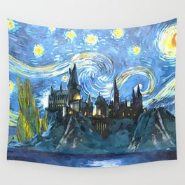 Starry Night in Hogwarts Castle - HP Wall Tapestry