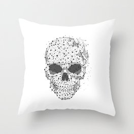 Super cool Skull Molecules Throw Pillow