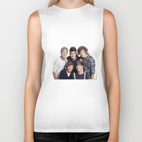 one direction Biker Tanks featuring One Direction by Sara Khaled