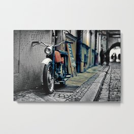 Small motorcycle parked Metal Print