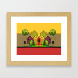 Two Suns Above the Village Framed Art Print