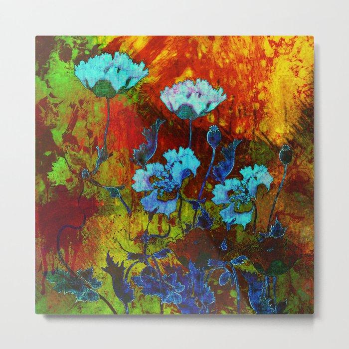 Hello blue poppies! Metal Print
