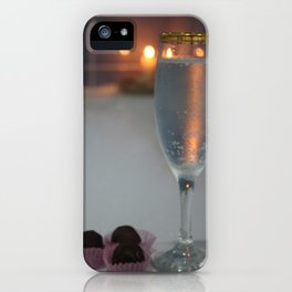 A Perfect Romance. Jacuzzi, Wine and Chocolates iPhone Case