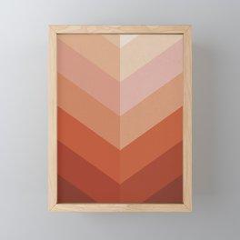 Chevron Geometry 3. Terracotta Framed Mini Art Print