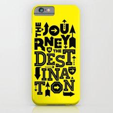 Yellow Journey Quote iPhone 6s Slim Case