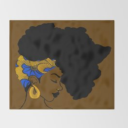 Fro African Throw Blanket