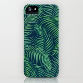 Night tropical palm leaves iPhone Case
