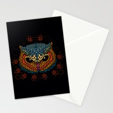 Owl Face Stationery Cards