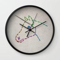 unicorn Wall Clocks featuring unicorn by gazonula