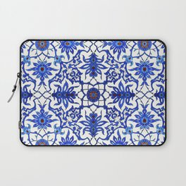 Art Nouveau Chinese Tile, Cobalt Blue & White Laptop Sleeve