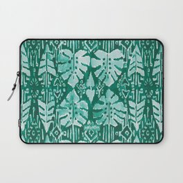 JUNGLE IKAT Green Tropical Monstera Laptop Sleeve