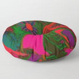 Blacklight Bouquet, Pink Floor Pillow