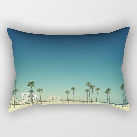 Summer Beach Blue Rectangular Pillow