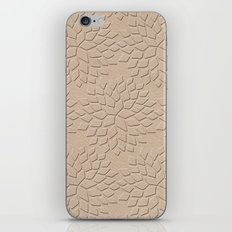 Leather Look Petal Pattern - Pale Dogwood Color iPhone & iPod Skin