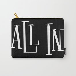 All In: black Carry-All Pouch