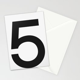 No. 5 — White Stationery Cards
