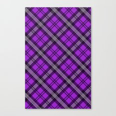 Scottish Plaid (Tartan) - Purple Canvas Print