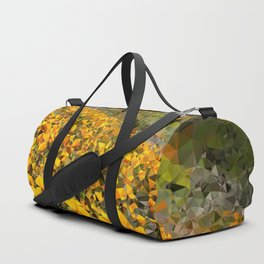 California Poppies Low Poly Geometric Triangles Duffle Bag